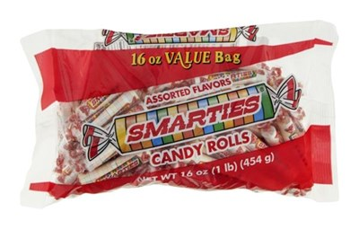 Assorted Flavors Smarties Candy Rolls 16oz.