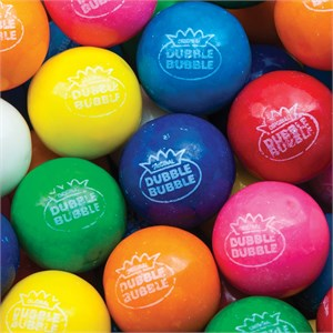 Assorted 8 Flavor Dubble Bubble 1-Inch Gumballs 5LB