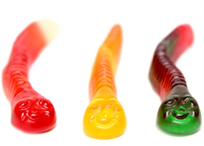 Assorted Fruit Gummy Worms 5LB