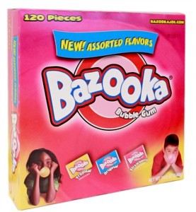 Bazooka Bubble Gum - Assorted 120ct (Sold Out)