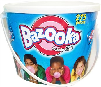 Bazooka Bubble Gum 275ct Tub (DISCONTINUED)