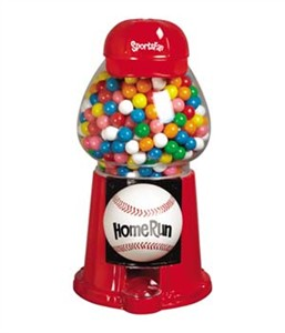 Baseball Sports Fan Gumball Machine (Sold Out)