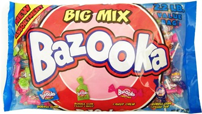 Bazooka Big Mix Bubble Gum 2.2lb (Sold Out)