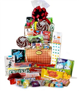 Gingham Retro Candy Basket