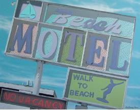 Beach Motel Metal Sign (SOLD OUT)