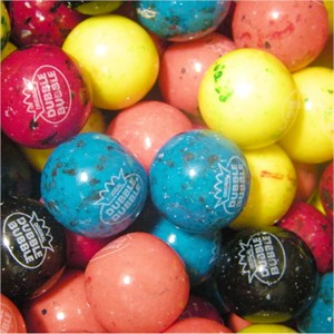 Berry Blast Speckled Dubble Bubble 1-Inch Gumballs 5LB
