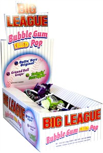 Big League Bubble Gum Pops 48ct (DISCONTINUED)