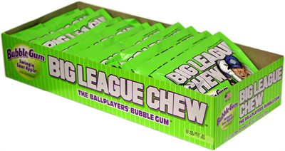 Big League Chew Bubblegum - Swingin' Sour Apple 12ct.