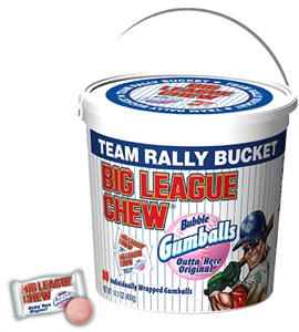 Big League Chew Team Rally Bucket Bubble Gumballs 80ct.