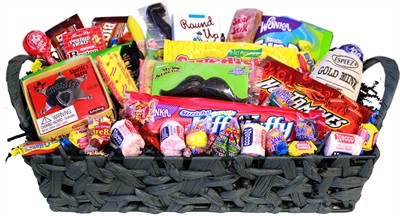 Big Boys Basket of Nostalgic Treats