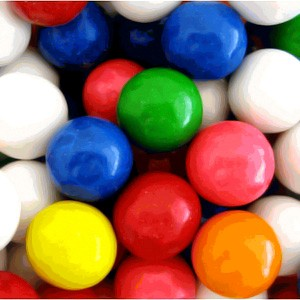 Gumballs Assorted 1-Inch Large 5LB