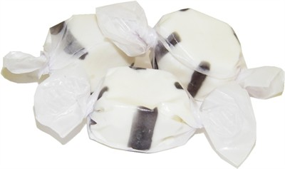 White and Black Licorice Salt Water Taffy 3LB