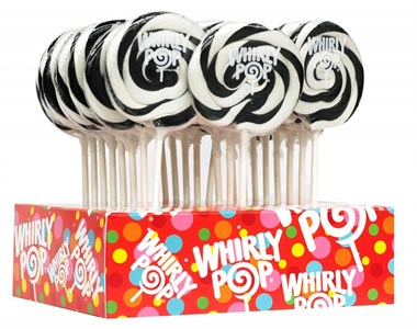 Black & White Whirly Pop 1.5oz - 3 inch 12ct.