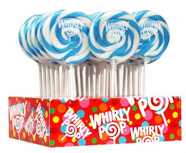 Blue & White Whirly Pop 1.5oz - 3 inch 12ct