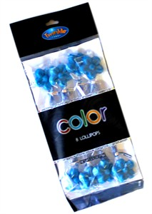 Twinkle Candy Color Flower Lollipops - Blue 8ct. (sold out)
