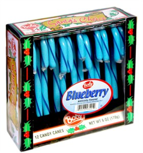 Bob's Blueberry Candy Canes 12ct. (Discontinued)