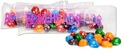 Boneheads Skulls Hard Candy Mini Bags - 2LB (Discontinued)