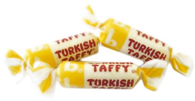 Bonomo Turkish Taffy Bulk - Banana 5LB