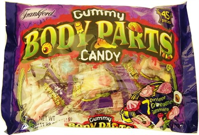 Gummy Body Parts Candy 45ct. (Sold Out)