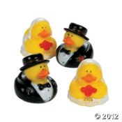 Bride and Groom Rubber Ducks Set of 4 (sold out)