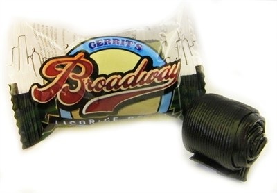 Broadway Black Licorice Ribbon Rolls 5LB (DISCONTINUED)