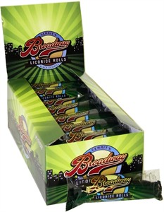 Broadway Black Licorice Ribbon Rolls 24ct. (DISCONTINUED)