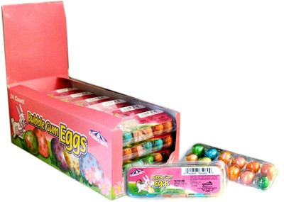 Bubble Gum Mini Easter Eggs 24ct.