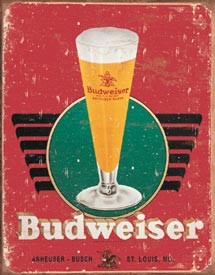 Bud - Retro Glass & Logo  (Discontinued)