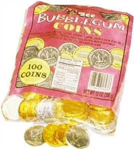 Bubble Gum Coins 100ct (DISCONTINUED)