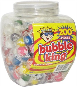 Bubble King Gumballs 200ct Tub (DISCONTINUED)