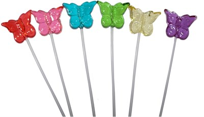 Butterfly Twinkle Pops Assorted 7 Flavors - 40ct.