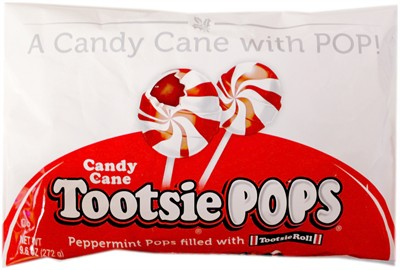 Peppermint Candy Cane Tootsie Pops 9.6oz.