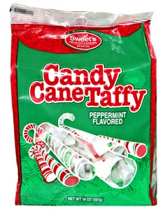 Candy Cane Peppermint Taffy 14oz. Bag (SOLD OUT)