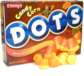 Candy Corn Dots Theater Box 7oz. (DISCONTINUED)