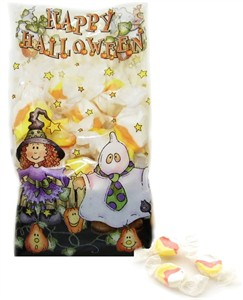 Happy Halloween Candy Corn Taffy Bag