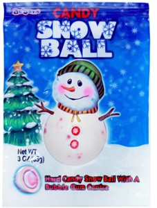 Candy Snow Ball Jawbreaker 3oz. (sold out)