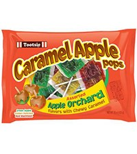 Caramel Apple Pops Assorted Apple Orchard Flavors 15oz.