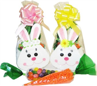 Girl's Bunny Tote with Candy Filled Carrots