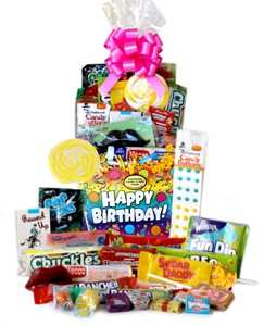<strong>Birthday Celebration Retro Candy Basket &#9658;</strong>