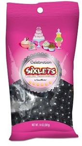 Celebration Sixlets - Black 14oz. Bag