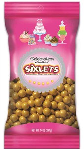 Celebration Sixlets Gold Bag