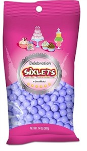 Celebration Sixlets - Lavender 14oz. Bag