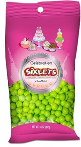 Celebration Sixlets - Lime Green 14oz. Bag