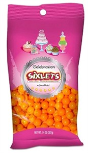 Celebration Sixlets - Orange 14oz. Bag