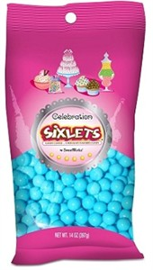 Celebration Sixlets - Powder Blue 14oz. Bag