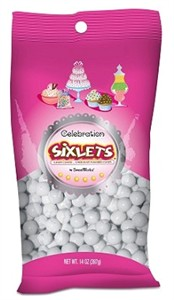 Celebration Sixlets - White 14oz. Bag