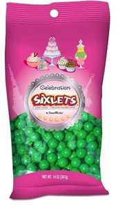 Celebration Sixlets - Green 14oz. Bag