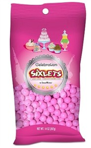 Celebration Sixlets - Hot Pink 14oz. Bag