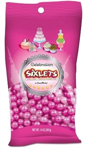 Celebration Sixlets - Pearl Pink 14oz. Bag