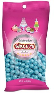 Celebration Sixlets - Pearl Powder Blue 14oz. Bag